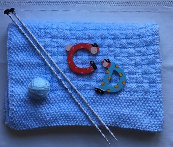 Tejer una manta de bebé