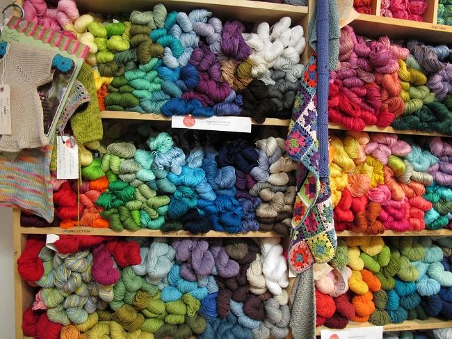 Estanterías de felicidad. Knitty City. Nueva York