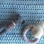 Mantilla de bebe al crochet