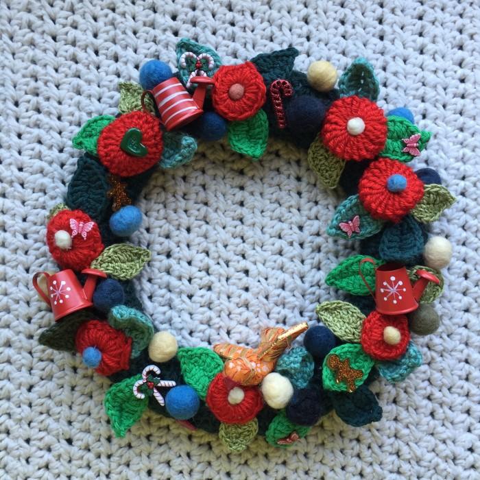 Corona de Navidad al crochet