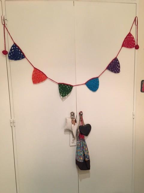 Banderines al crochet - Espacio Claudelina
