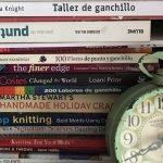 Mis libros de bordado, patchwork y crochet