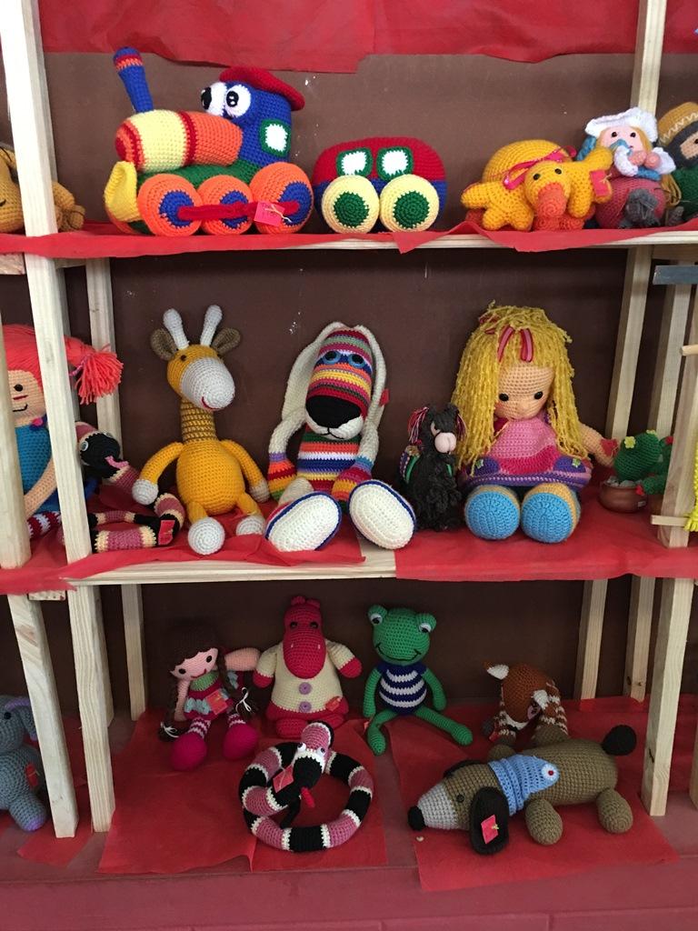 Muñecos al crochet. Volcán, Jujuy