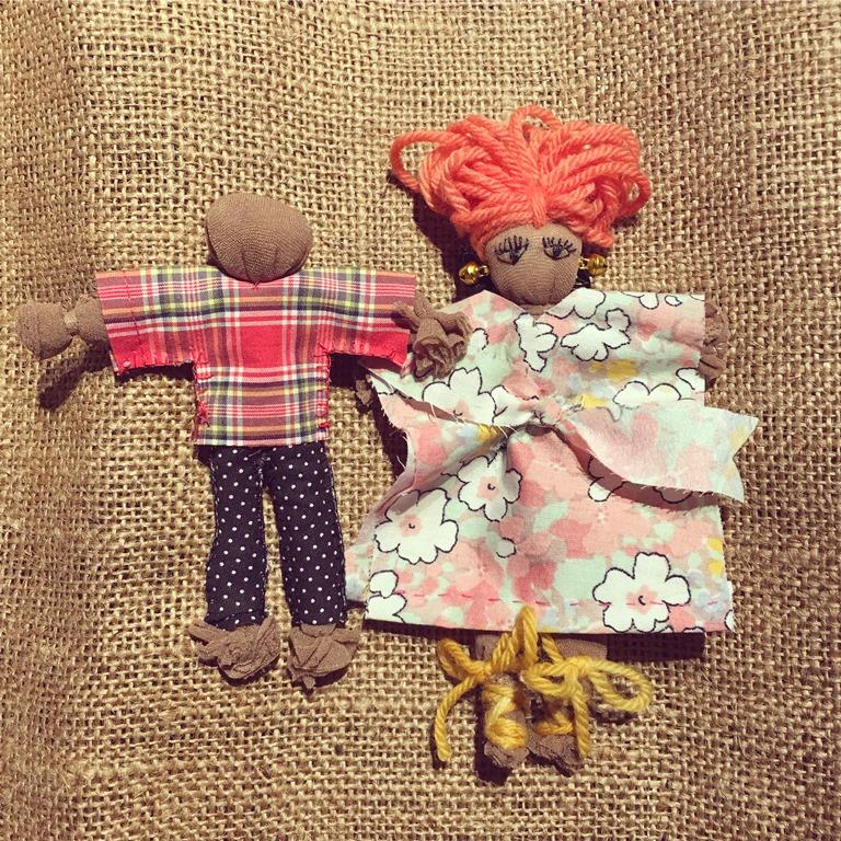 Muñecos de arpilleras