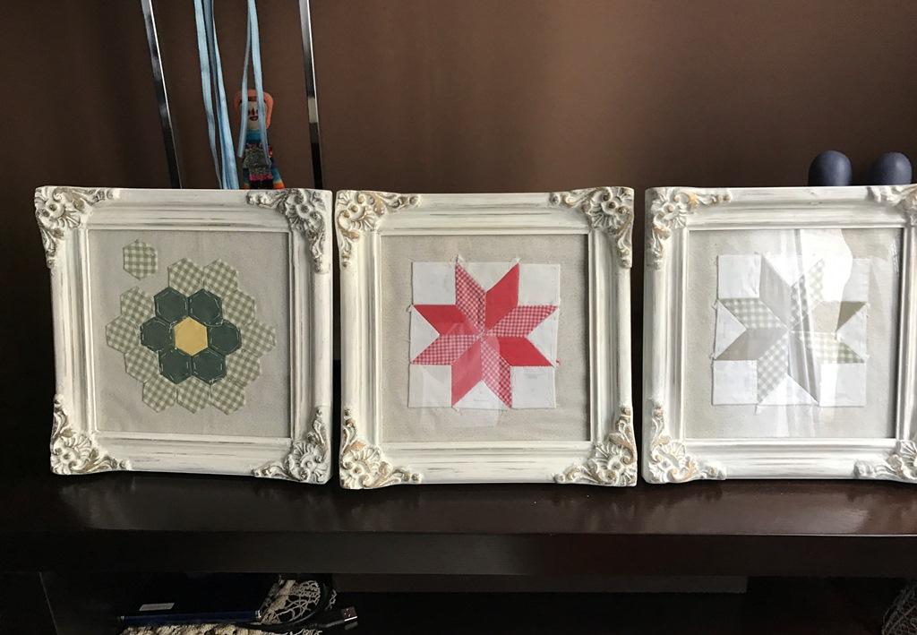 Ideas en 5 minutos cuadros con patchwork espacio claudelina for Ideas en cinco minutos